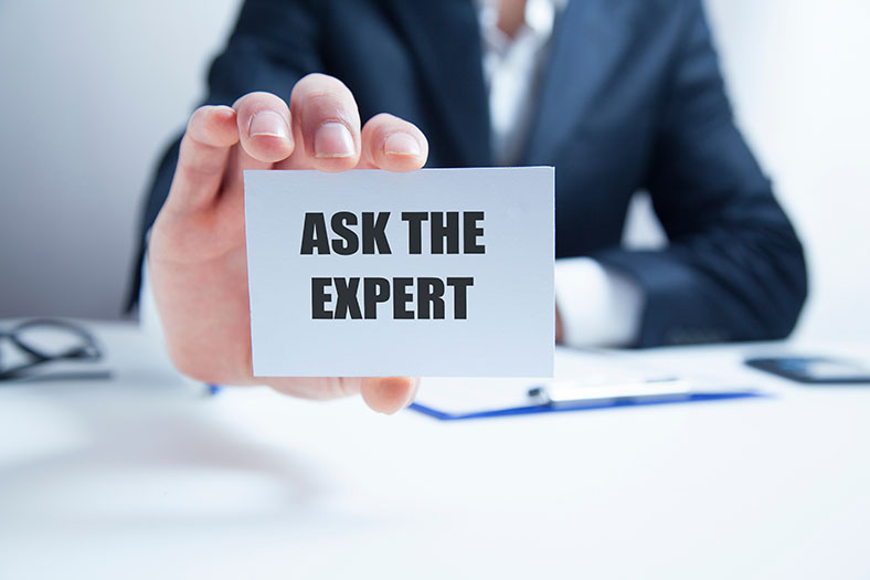 Ask the expert sign