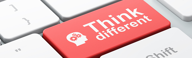 Think different button