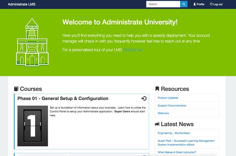 Administrate University
