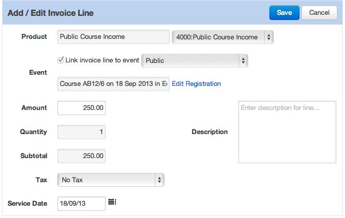 Editing Invoice Line Item Detail