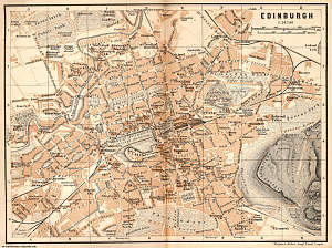 Map of Edinburgh, Scotland, from 1901