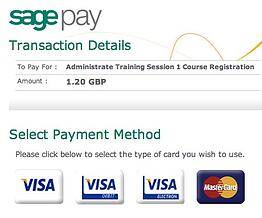 Securely accept payment for your course bookings with SagePay