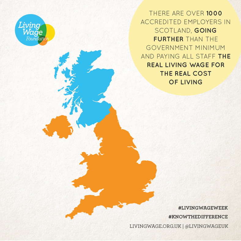 Scotland map Living Wage Week