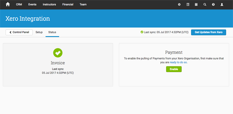 Xero Payments Not Enabled