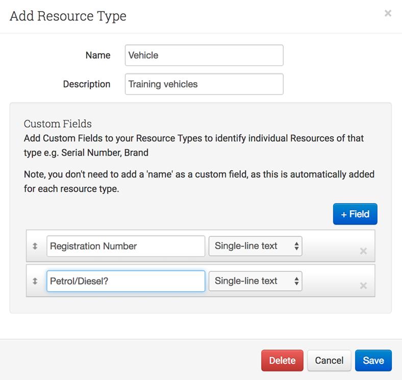 Add resource type