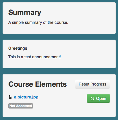 An Example of our new LMS announcements
