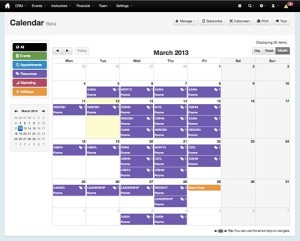 Manage your training events with our event calendar
