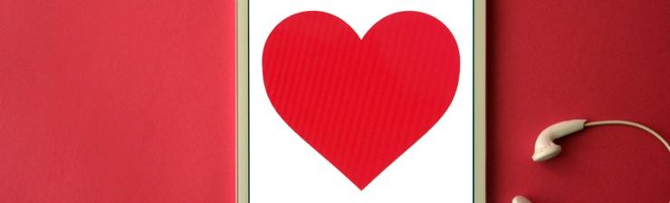 Love heart on iPad