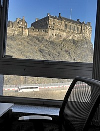 The view from our new offices at Edinburgh CodeBase!