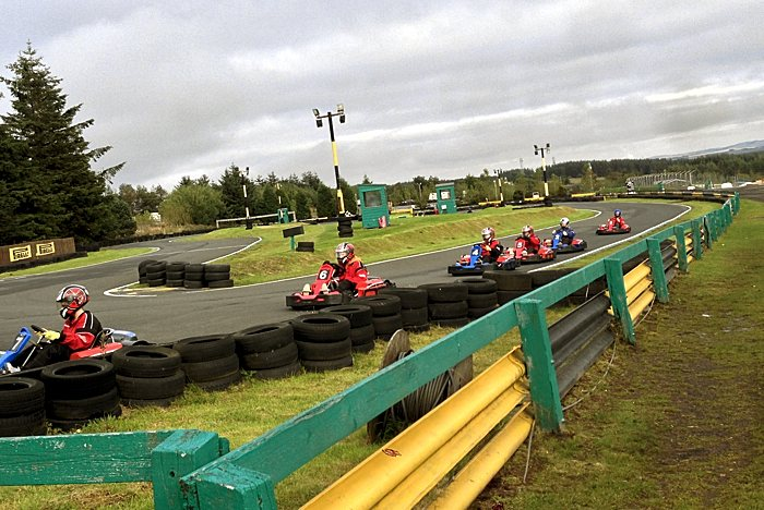 Administrate goes kart racing at Knockhill