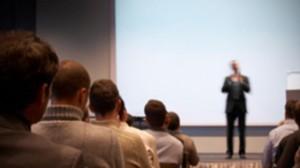 Training provider presenting