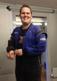 Support Specialist Ruu suits up in advance of the race