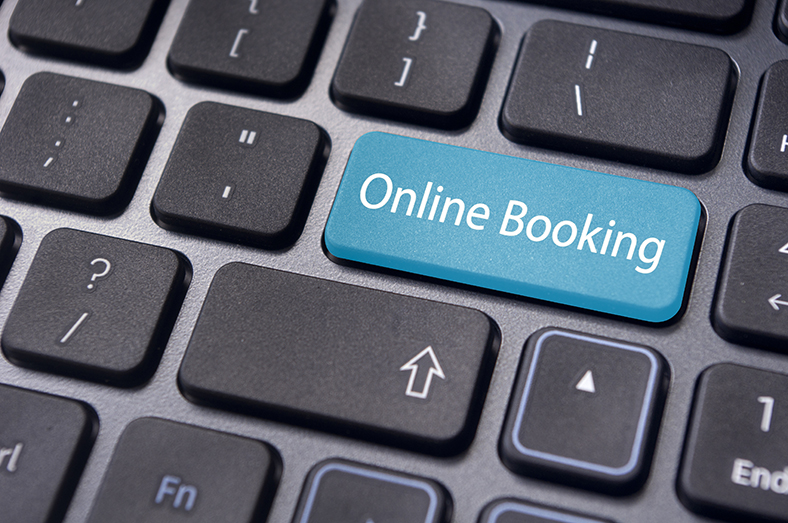 Online booking button