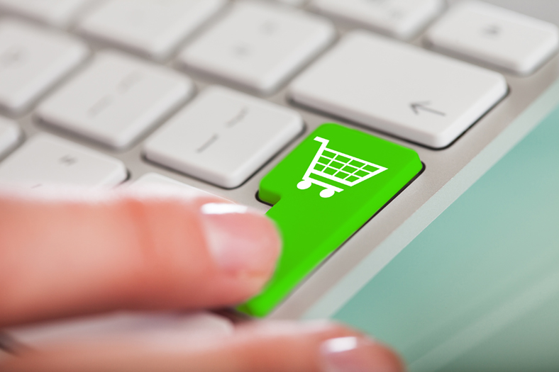 Shopping trolley keyboard button
