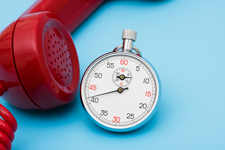 Stopwatch and phone