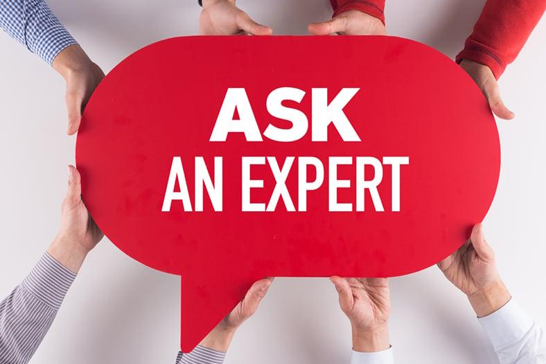 Ask an expert speech bubble