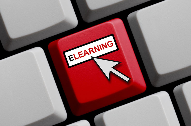 eLearning key on keyboard
