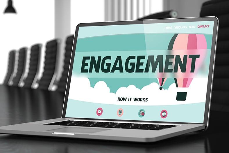 Engagement on laptop