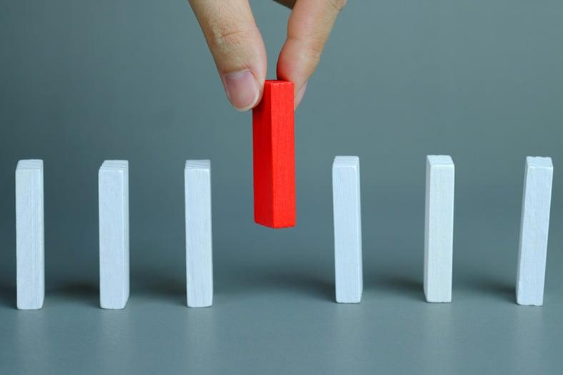 Picking red domino