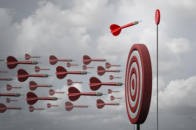 Arrows hitting target