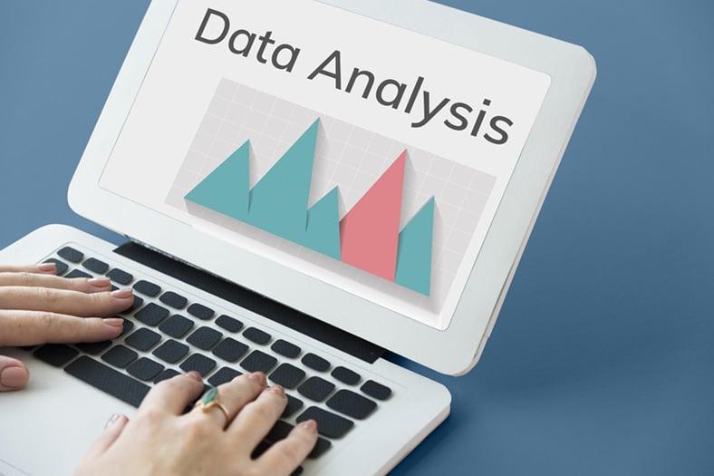 Data analysis on laptop