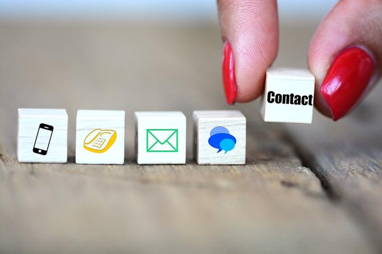 Online contact details