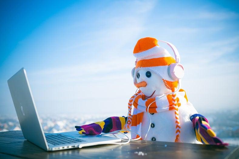 Snowman on Computer