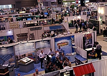 trade show and exhibition floor