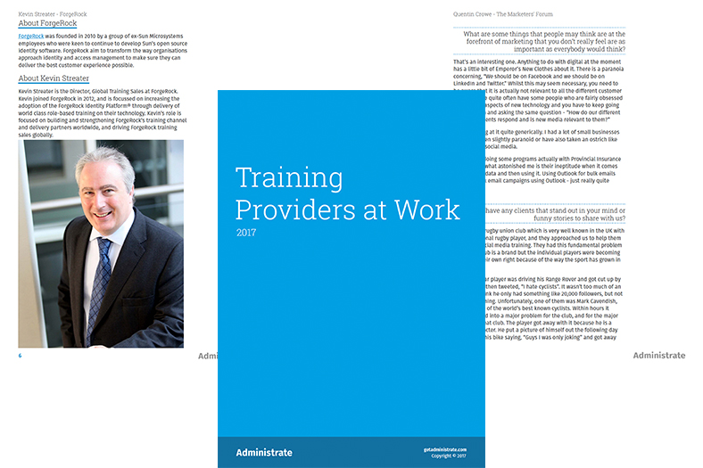 Training Providers at Work eBook