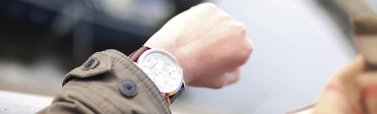 Watch on wrist