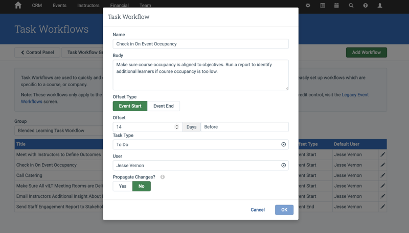Task Workflows example