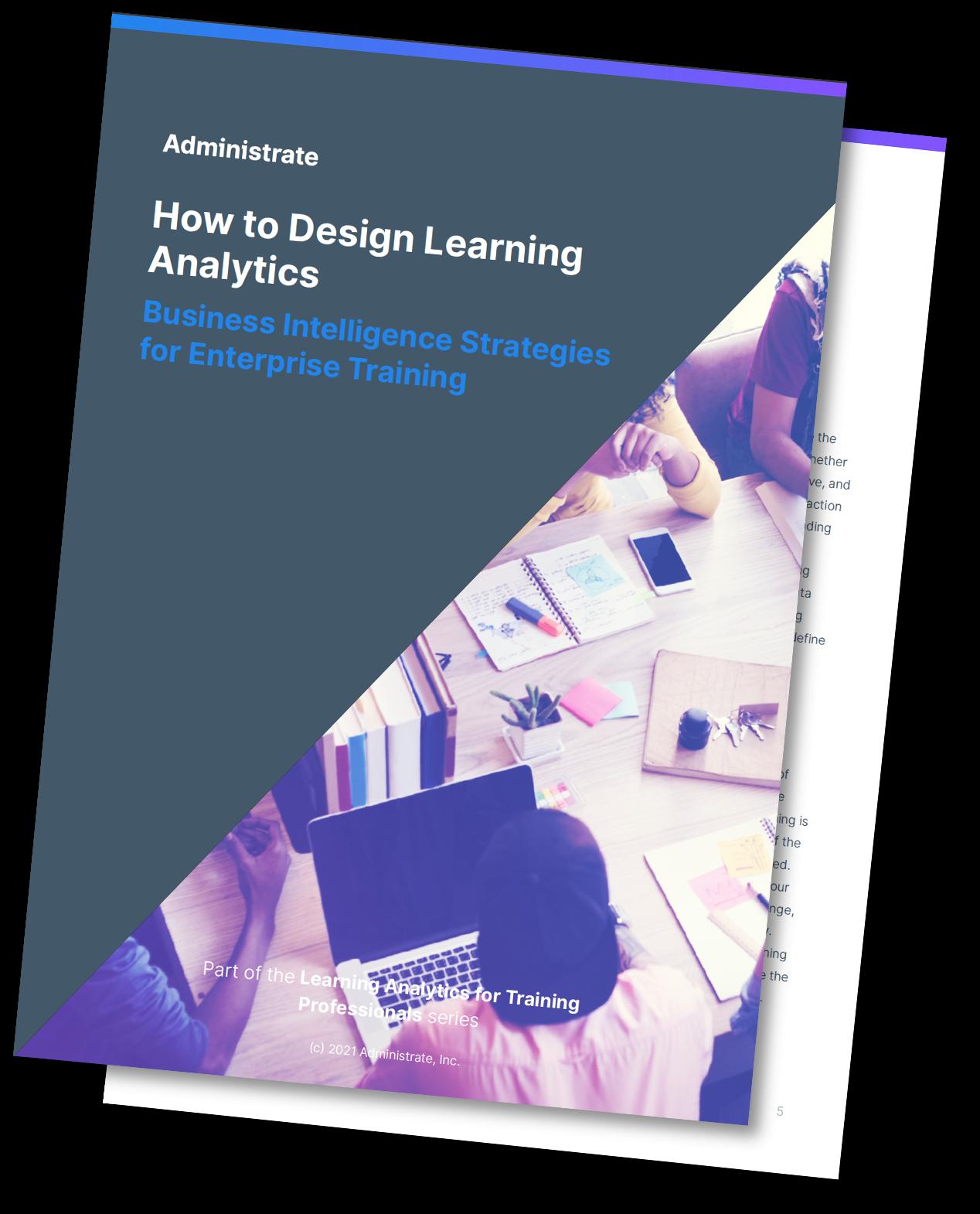 How to Design Learner Analytics Mockup (Drop Shadow)