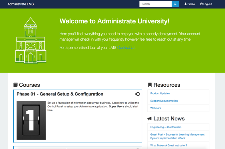Administrate University
