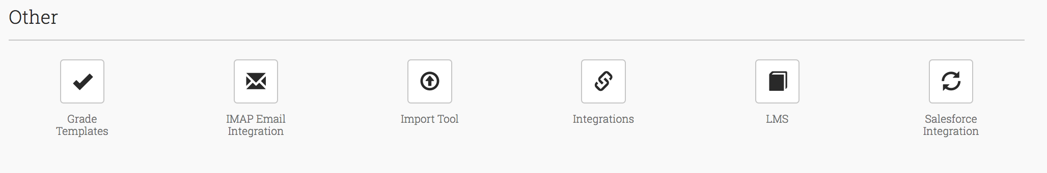Control Panel Grade Templates