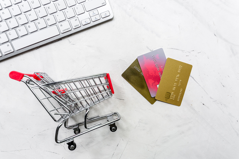 Trolley and credit cards