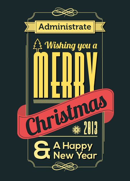 Christmas Card from Administrate