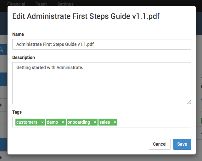 Editing DMS documents is easy within Administrate