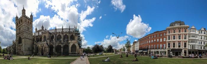 Exeter England Panorama