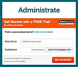 Signing Up for a Free Trial of Our Training Administration System is Easy