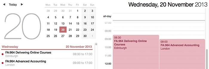 mac calendar subscription